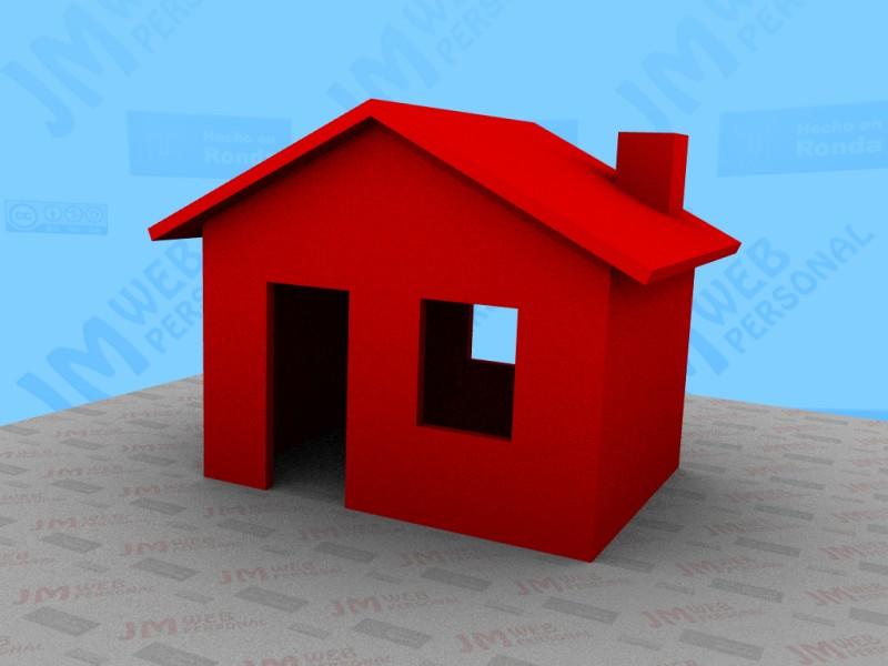 Descarga de modelos Blender 3D - Casa roja